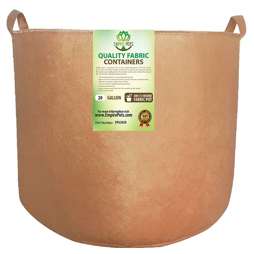 Empire Fabric Pots 20 Gallon w/ Handles