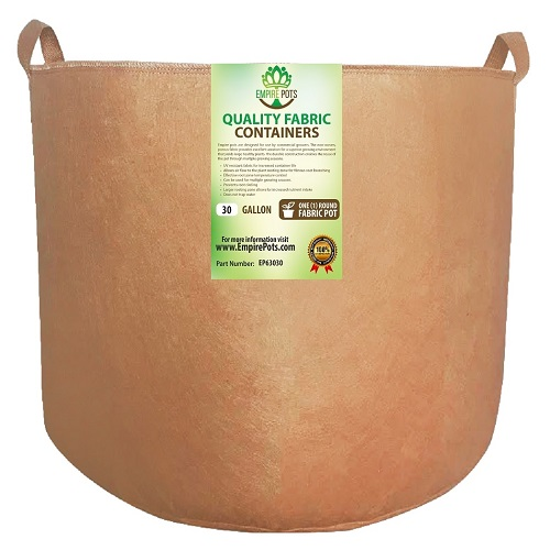 Empire Fabric Pots 30 Gallon w/ Handles