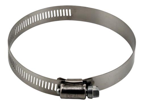 Ideal-Air Stainless Steel Hose Clamps 2/Pack 4 in