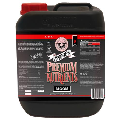 Snoop's Premium Nutrients Bloom B Non-Circulating 5 Liter (Soil and Hydro Run To Waste)