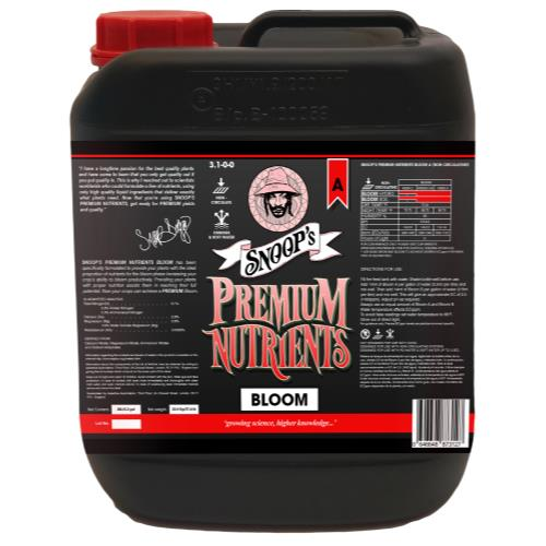 Snoop's Premium Nutrients Bloom A Non-Circulating 20 Liter (Soil and Hydro Run To Waste)