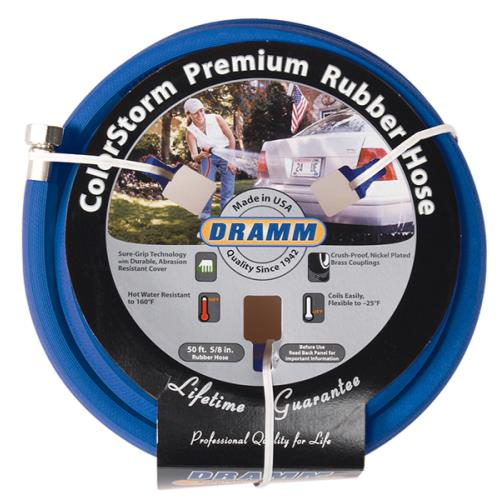 Dramm ColorStorm Premium Rubber Hose 5/8 in 50 ft Blue
