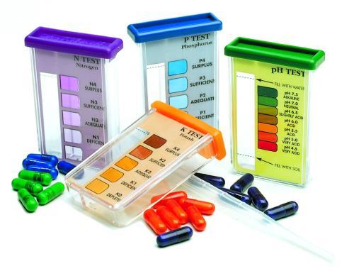 Rapitest soil test ph n p k for Soil nutrient test kit