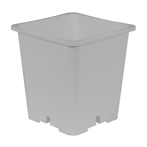 Gro Pro Premium White Square Pot 9 in x 9 in 10.5 in