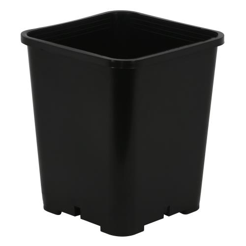 Gro Pro Premium Black Square Pot 7 in x 7 in x 9 in