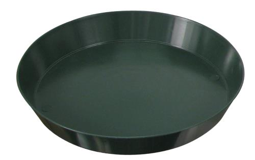 Green Premium Plastic Saucer 12 in (10/pack)