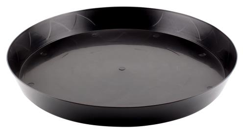 Gro Pro Heavy Duty Black Saucer - 16 in (10/pack)