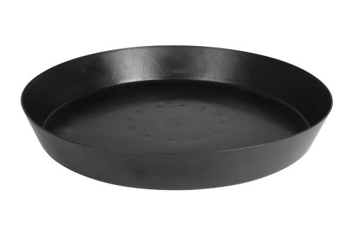Gro Pro Heavy Duty Black Saucer w/ Tall Sides - 25 in  (5/pack)