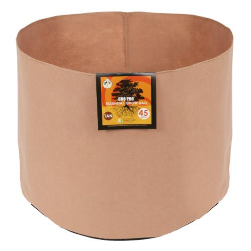 Gro Pro Essential Round Fabric Pot-Tan 45 Gallon