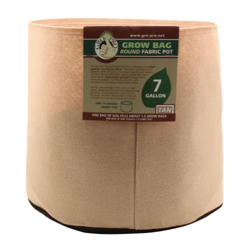 Gro Pro 7 Gallon Round Grow Bag-Tan
