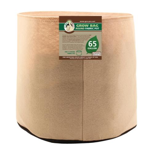 Gro Pro 65 Gallon Round Grow Bag-Tan
