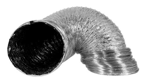 Ideal-Air Supreme Silver / Black Ducting 14 in x 25 ft