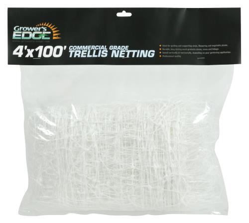 Grower's Edge Commercial Grade Trellis Netting 4 ft x 100 ft