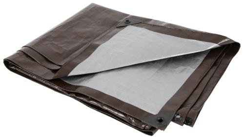 Grower's Edge Heavy Duty Brown / Silver Tarp 12 ft x 12 ft