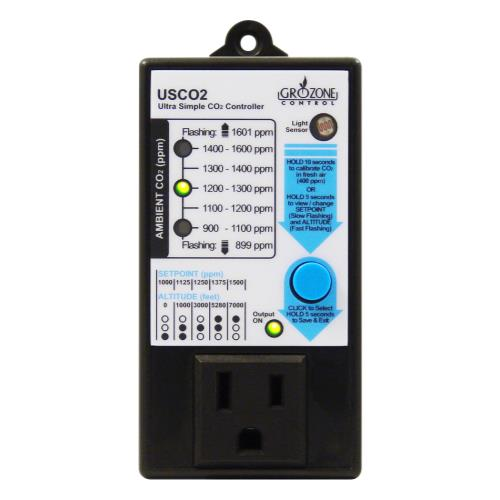 Grozone Control  Control USCO2 0-2000 PPM Single Zone Ultra Simple CO2 Controller