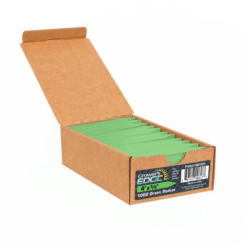 Grower's Edge Plant Stake Labels Green - 1000/Box