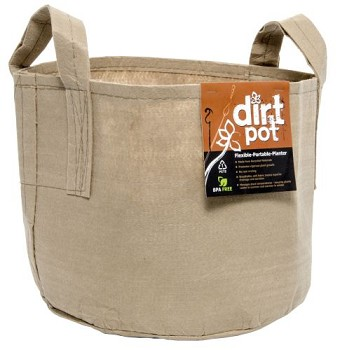 Dirt Pot Tan 45 Gal w/Handle