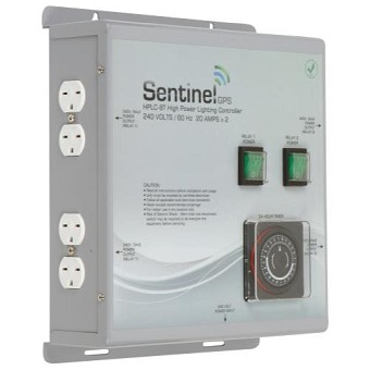 Sentinel GPS HPLC-8T High Power Lighting Controller 8 Outlet with Integrated Timer