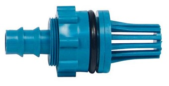 Hydro Flow Teal Fill / Drain Fitting Adapter