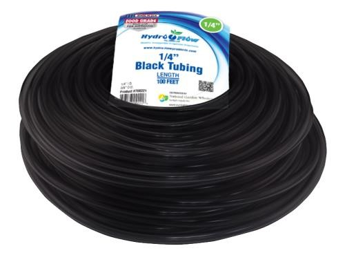 Hydro Flow Vinyl Tubing Black 1/4 in ID - 3/8 in OD 100 ft Roll