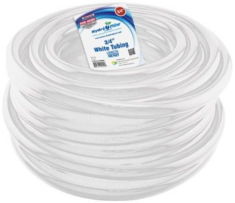 Hydro Flow Vinyl Tubing White 3/4 in ID  - 1 in OD 100 ft Roll
