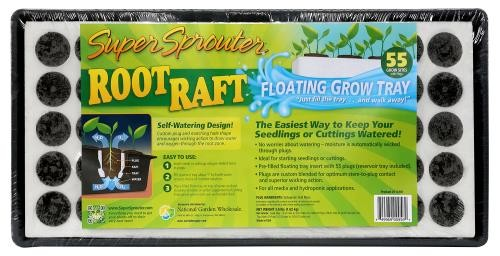 Super Sprouter Root Raft Floating Plug Tray 55 ct