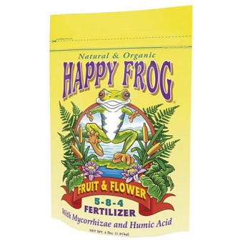 FoxFarm Happy Frog Fruit & Flower Fertilizer 4 lb 5 - 8 - 4