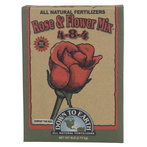 Down To Earth Rose & Flower Mix 4-8-4 - 6 lb
