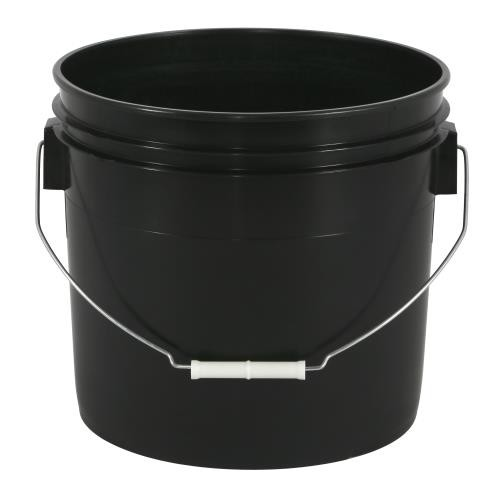 Black Plastic Bucket 3.5 Gallon