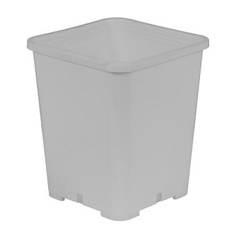 Gro Pro Premium White Square Pot 7 in x 7 in x 9 in