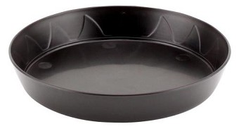 Gro Pro Heavy Duty Black Saucer - 6 in (10/pack)