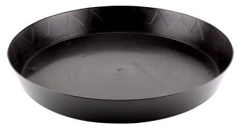 Gro Pro Heavy Duty Black Saucer - 14 in (10/pack)