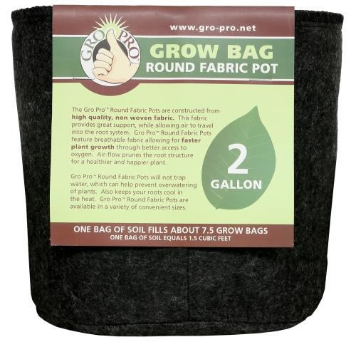Gro Pro Round Grow Bag 2 Gallon