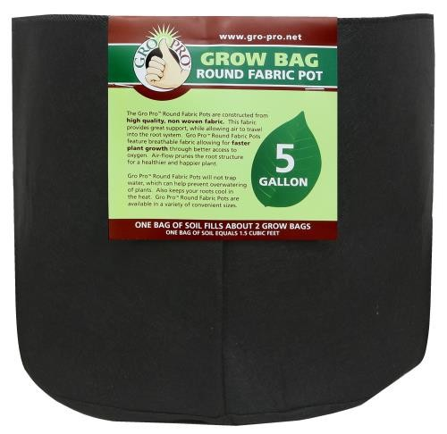 Gro Pro Round Grow Bag 5 Gallon