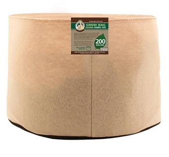 Gro Pro 200 Gallon Round Grow Bag-Tan