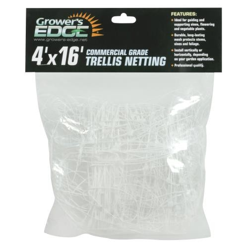 Grower's Edge Commercial Grade Trellis Netting 4 ft x 16 ft