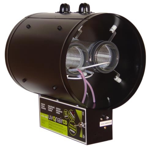 Uvonair CD Inline Duct Ozonator 10 in - 2 Cell