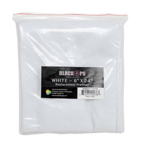 Black Ops Replacement Pre-Filter 6 in x 24 in White