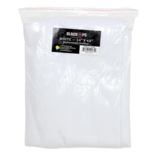 Black Ops Replacement Pre-Filter 14 in x 48 in White