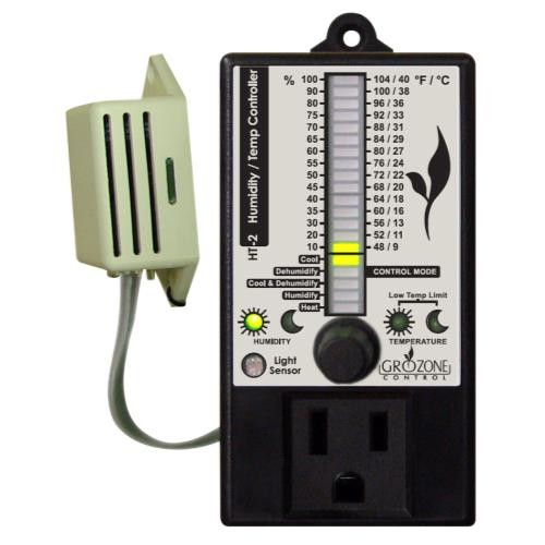 Grozone Control  Control HT2 Climate Controller (Temp & RH) Single Output Bargraph Display