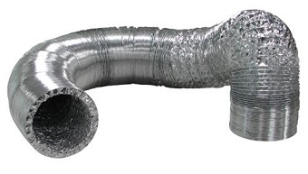 Ideal-Air Silver/Silver Flex Ducting 4 in x 25 ft