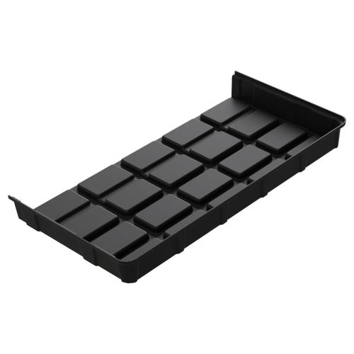 Botanicare 4'Wx2'L Black ABS End Tray 10/Case