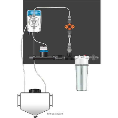 Etatron eOne Micro-Dosing Pump 0.75 in - Assembled Panel (Left to Right)