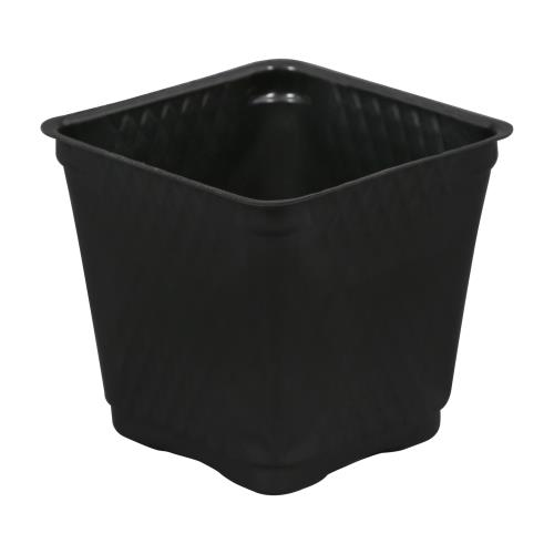 Gro Pro Square Plastic Pot Black 3.5 in   2000/Case