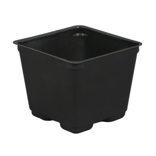 Gro Pro Square Plastic Pot Black 4 in   2000/Case
