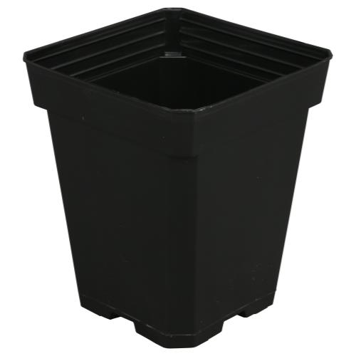 Gro Pro Black Plastic Pot 5 in x 5 in x 6.5 in 400/Case