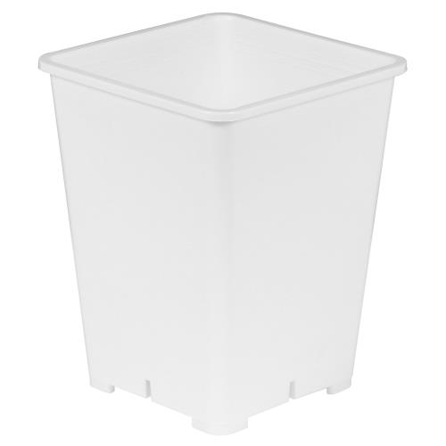 Gro Pro Premium White Square Pot 6 in x 6 in x 8 in   300/Case