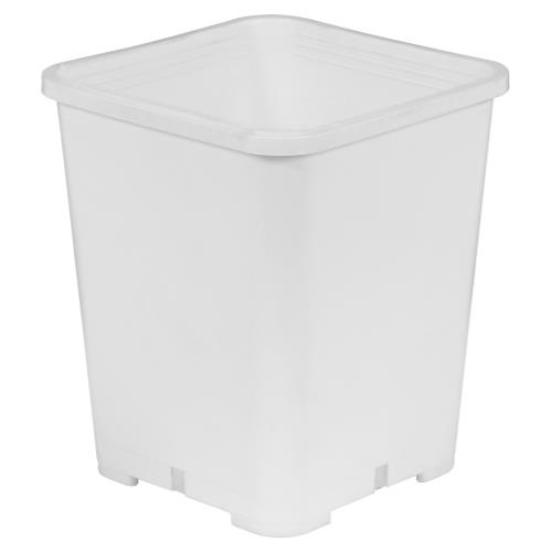Gro Pro Premium White Square Pot 7 in x 7 in x 9 in   200/Case