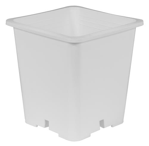 Gro Pro Premium White Square Pot 9 in x 9 in 10.5 in   100/Case