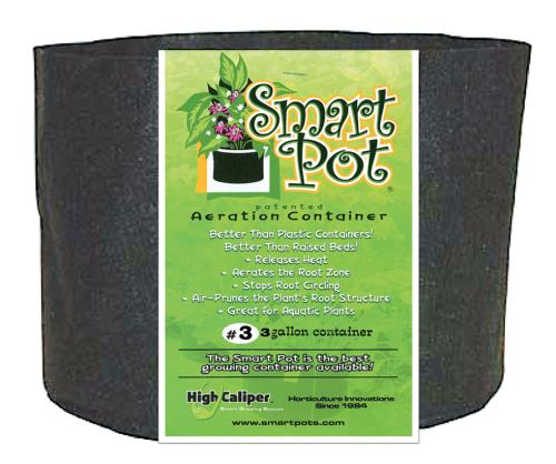 Smart Pot Black 3 Gallon   100/Case